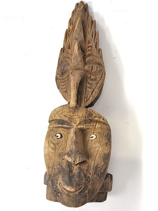 Antique Garamut Drum End, Middle Sepik River