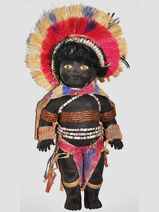 dolls in traditional costumes  papua new guinea