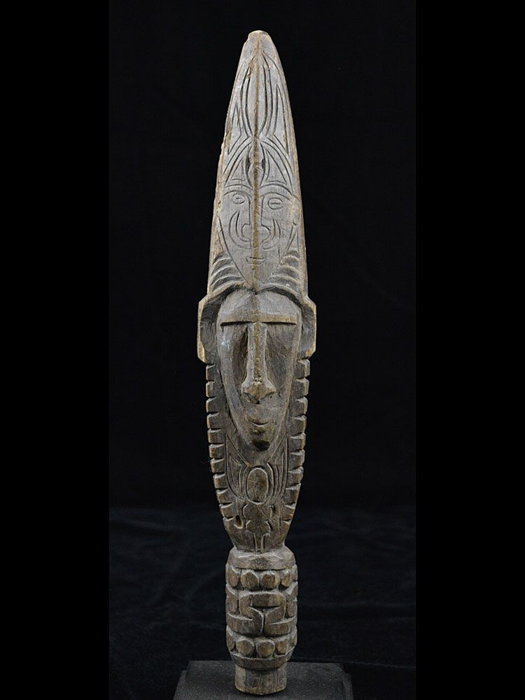 Middle Sepik Janus-faced Canoe Paddle Top - 7750