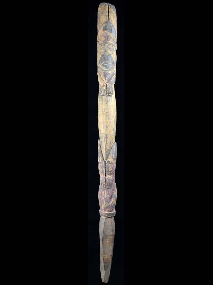 Old Yam Stake, Abelam People, Papua New Guinea - 10077