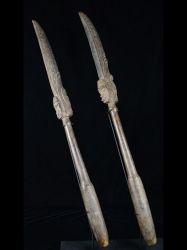 Superb Old Middle Sepik Garamut Pounder Pair –B17