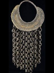 Very Fine Woven Yam Decoration with Rattan Chains - #B15-2
