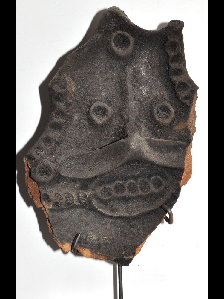Chambri Lakes Fireplace Fragment with Ancestor Face - #6788