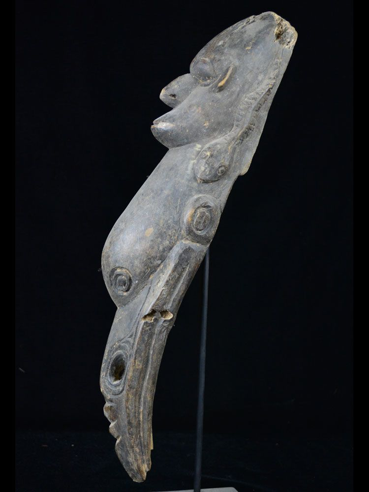 Hornbill and Ancestor Figure Architectural Element, Lower Sepik River. 8226
